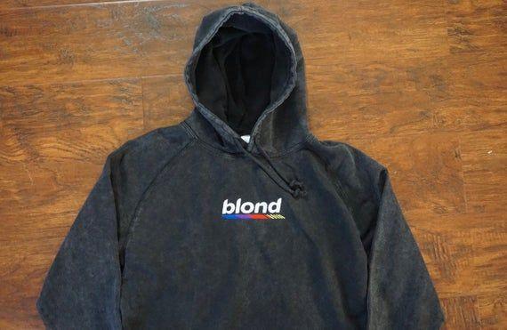 Blond Vintage Wash Embroidered Pullover Hoodie Frank Ocean Etsy Pullover Hoodie Unisex Hoodies Hoodies