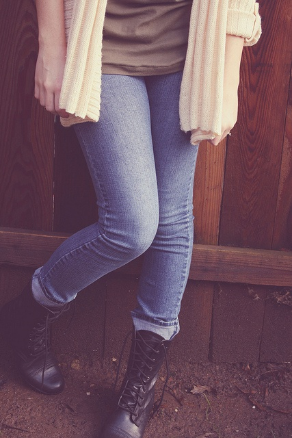 Boots + Jeans: Combat Boot, Fall Outfit