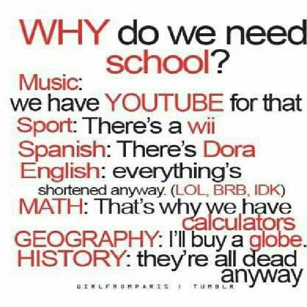 Why school, WHY!!!!!!!?????