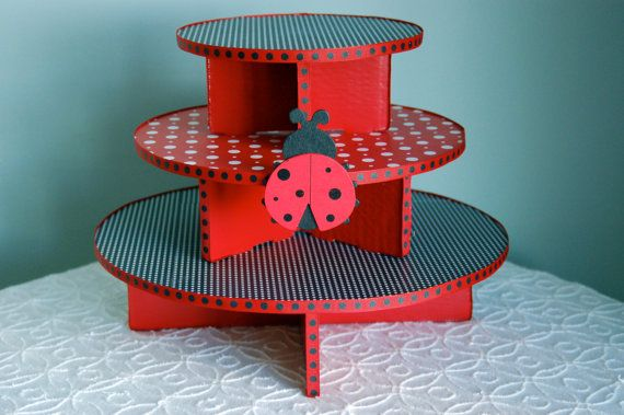 Lady Bug Cupcake Stand for Birthdays or Baby Shower by NuLuDesigns, $39.95