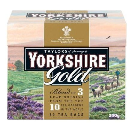 - イギリス雑貨と紅茶とハーブティーのお店 English Specialities ゴールド ヨークシャー紅茶 80ティーバッグ