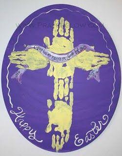 religious easter craft: Sundayschool, Hair Ideas, Hands Prints, Art Crafts, Church, Sunday Schools, Easter Crafts, Kids Crafts, Crosses Crafts