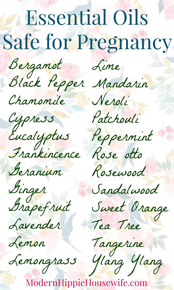 Essential oils that are safe to use during pregnancy (second and third trimester) - Modern Hippie Housewife.