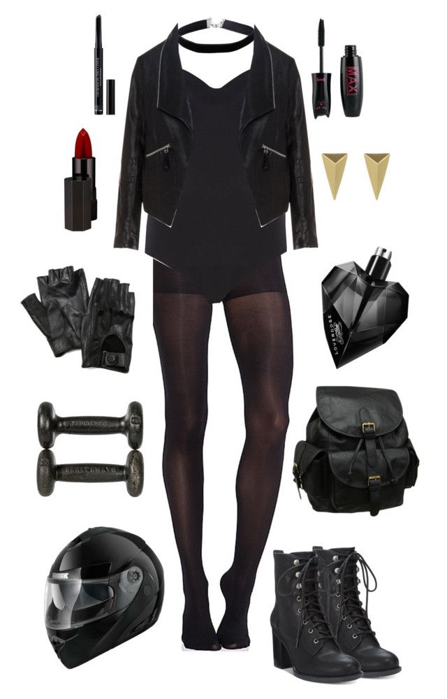 """""""Black Canary- DC Comics"""" by conquistadorofsorts ❤ liked on Polyvore featuring Carolina Amato, Miss Selfridge, Pretty Polly, Wolford, Zizzi, American Rag Cie, Christian Dior, AmeriLeather, Serge Lutens Beauté and Diesel"""