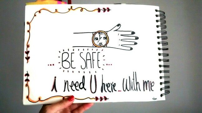 BE safe #IneedYou #HandDrawing #Ilustration #Draw #Typography #nbm #rayon