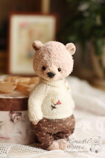 Мишки Тедди ручной работы. Ярмарка Мастеров - ручная работа. Купить Марик. Handmade. Бежевый, мишка-тедди, вискоза