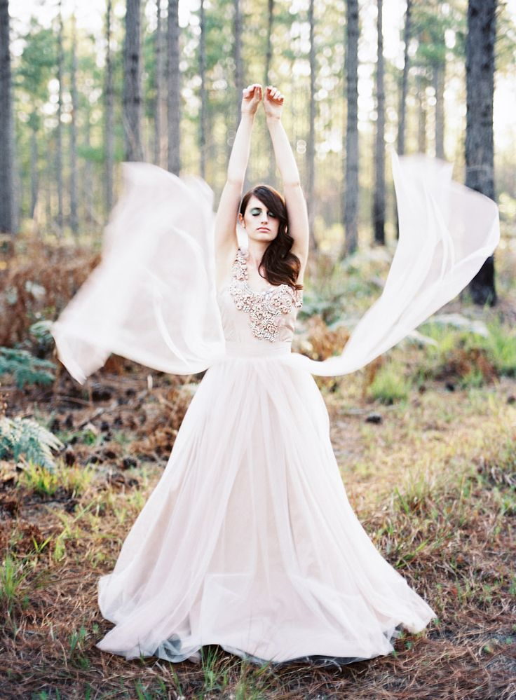 Blush Wedding Dress With Feathers : Best images about vow renewal on