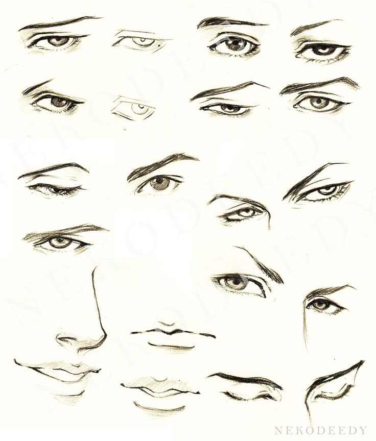 Tutorial - Eyes Male for Manga by nekodeedy (doesn't seem ...