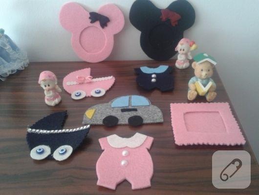 Kız ve erkek bebek şekeri modelleri, bebek zıbını, çerçeve, mickey mouse ya da puset şeklinde süslemeli hediyelik önerileri. el yapımı anne bebek ve lohusa aksesuarları...