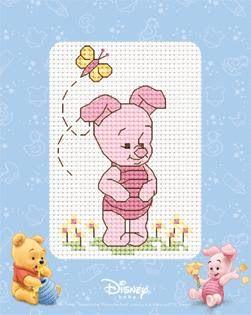 Oso pooh y sus amigos en punto de cruz ~ Solountip.com