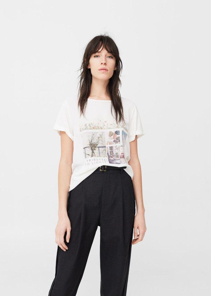 Printed image t-shirt -  Woman | MANGO United Kingdom