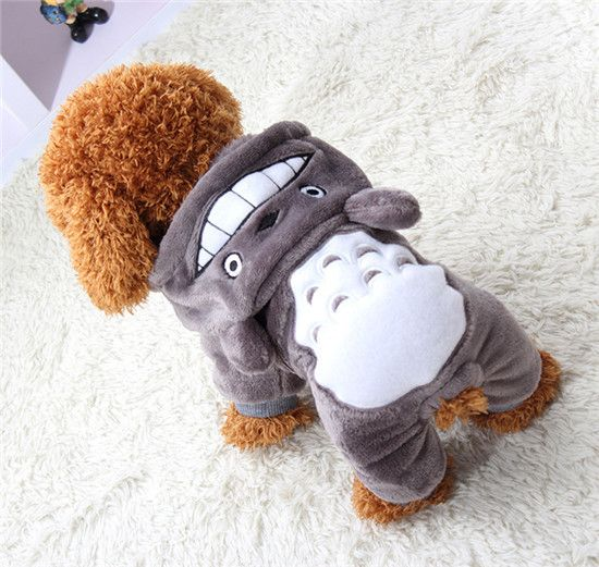 Soft Fleece Dog Clothes Warm Pet Costume Winter Dogs Coat Autumn Hoody Four Legs Jumpsuit Clothing for yokie small dogs 29