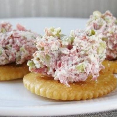 This is so much easier than pickle roll ups. Serve this pickle dip with crackers or thin with a little milk and dip with chips.