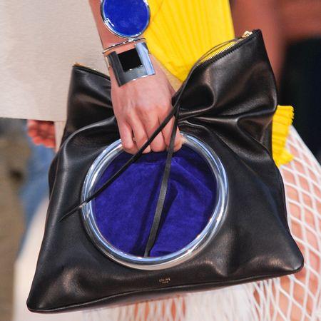 Celine soft pouch eyelet clutch handbag ss14 - best designer bags for spring summer 2014 - celine ring clutch bag - handbag.com