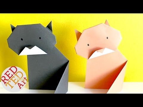 Cute Origami Cat - Red Ted Art's Blog
