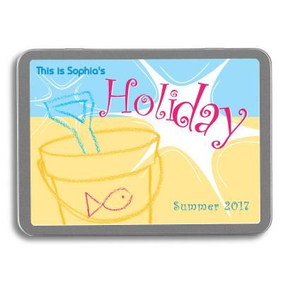 Super-cute tin that can be personalised. Children's Holiday Memories Gift Set