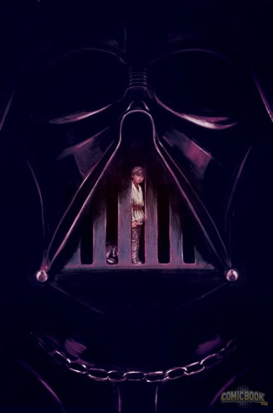 Young Anakin Skywalker trapped inside Darth Vader.