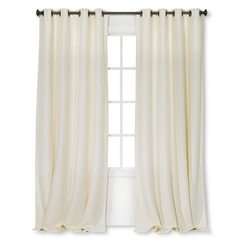 threshold basketweave curtain panel from target white curtains are recommended for simplicity. Black Bedroom Furniture Sets. Home Design Ideas