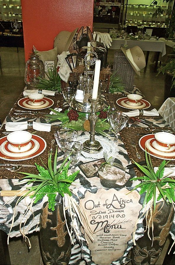 African Table Setting Tables Dinner Party Safari Africa Theme