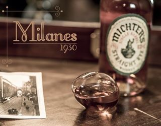 """Milanes"" cocktail from 1930 cocktail bar (Milan). Glass designed by Punto Soave"