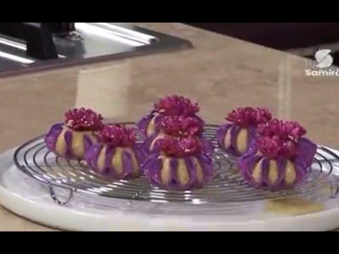 طريقة عمل حلوى تاج العروسة - YouTube