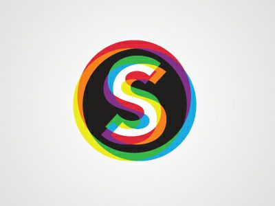 Rainbow colours inspired by the old school 3D effect. #logo #design