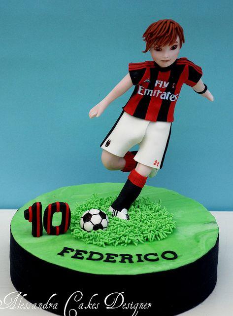 Topper calcio by Alessandra Cake Designer, via Flickr