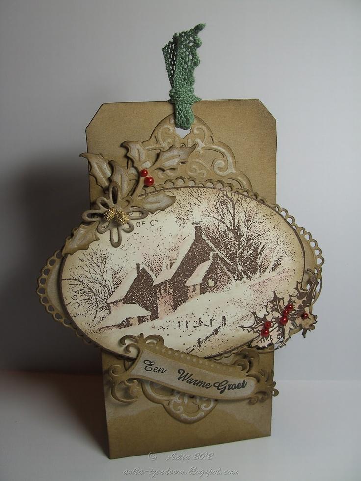 Grunged Brown Cardboard Vintage Tag...