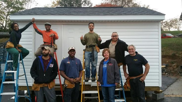 #Graduated from #carpentry class and our #tinyhouse #shed is ready for its owner. #mtc