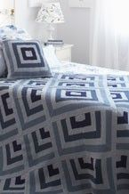 Yarnspirations.com - Patons Graphic Blues Blanket and Pillow - Patterns  | Yarnspirations