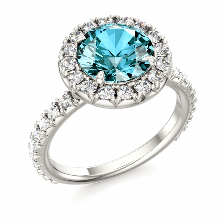 Topaz Engagement Ring #topaz #December #birthstone