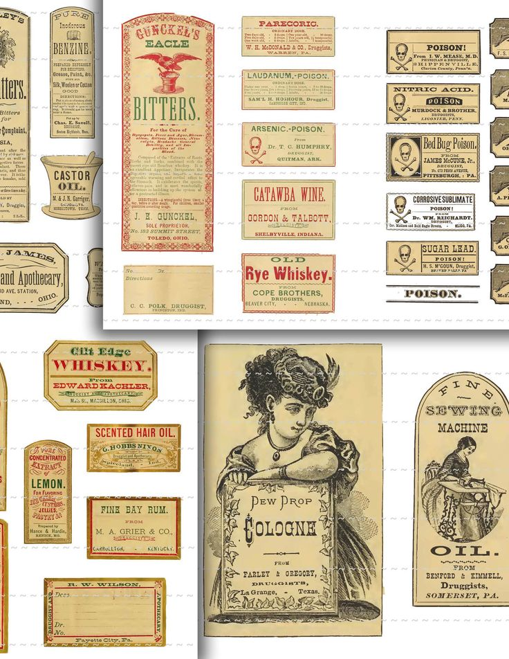 All kinds of pharmacy labels. 101 labels - download for just six dollars! Etsy