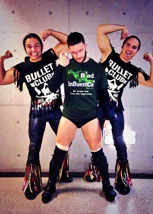 Bullet Club Members Prince Devitt & The Young Bucks