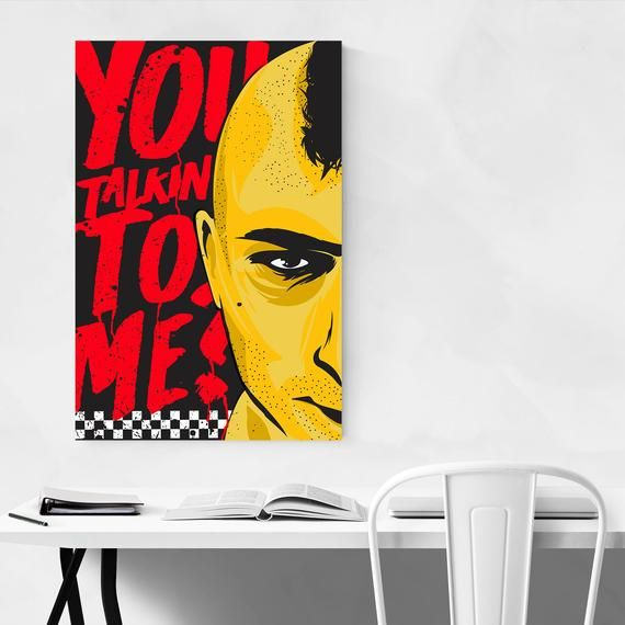 Taxi Driver Print, Taxi Driver Poster, Movie Posters, Movie Wall Art, Modern Wall Art, Modern Decor,