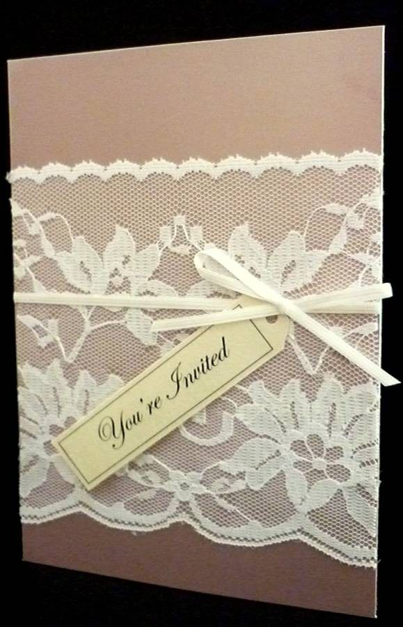 how to make wedding invitation card in microsoft word007%0A Vintage Lace Wedding Invitation