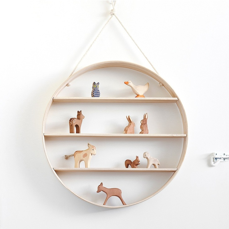 Bride & Wolfe - White Ash Circle Shelf - Hand-Made Markets - Temple & Webster presents