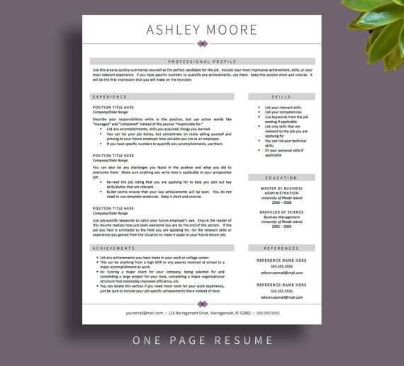Professional Resume Template for Word Pages