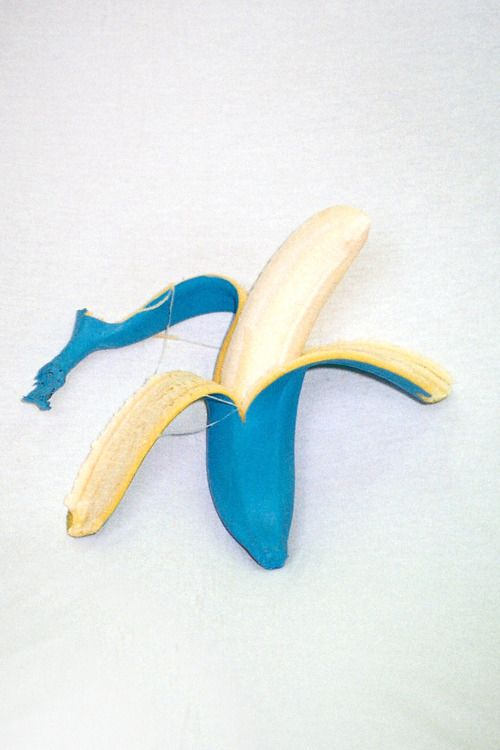 blue banana. Its blue, and its a banana! And the worlds collide….
