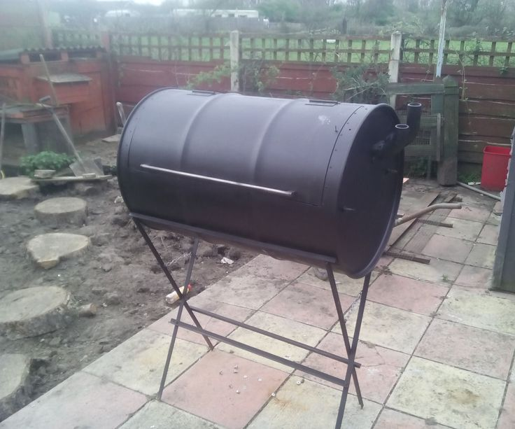 how to build a smoker out of an old bbq