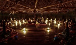 Temple of the Way of Light ayahuasca centre, two hours from Iquitos, Peru  Peru's ayahuasca industry booms as westerners search for alternative healing