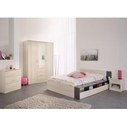 Meubles de chambre bois acacia clair