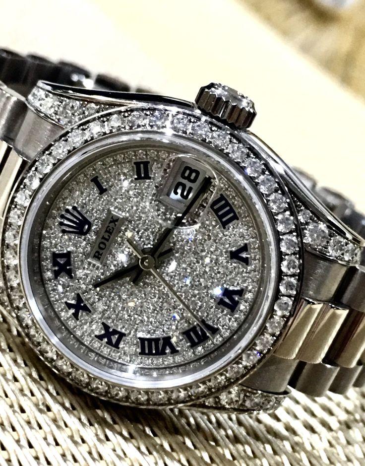 Rolex Ladies Datejust. White gold