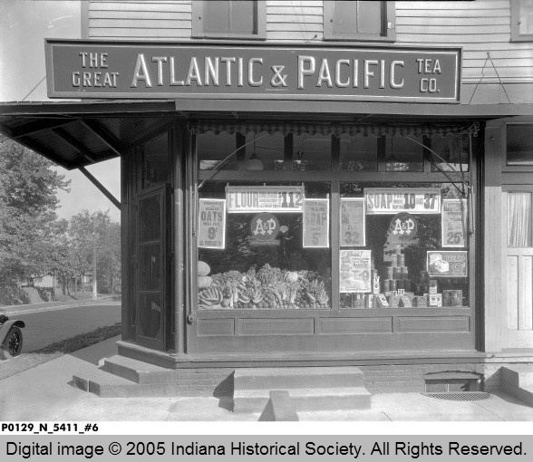 Atlantic & Pacific Tea Company Store 1925 Terre Haute, Indiana