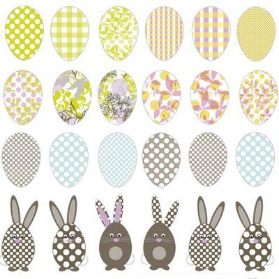 FREE printable easter eggs and bunnies (- for DIY easter garland^^)