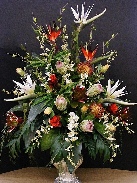 Birds of paradise and proteas are the main attraction in this large, deluxe arrangement. Annette at Michaels Arts & Crafts Madison, TN