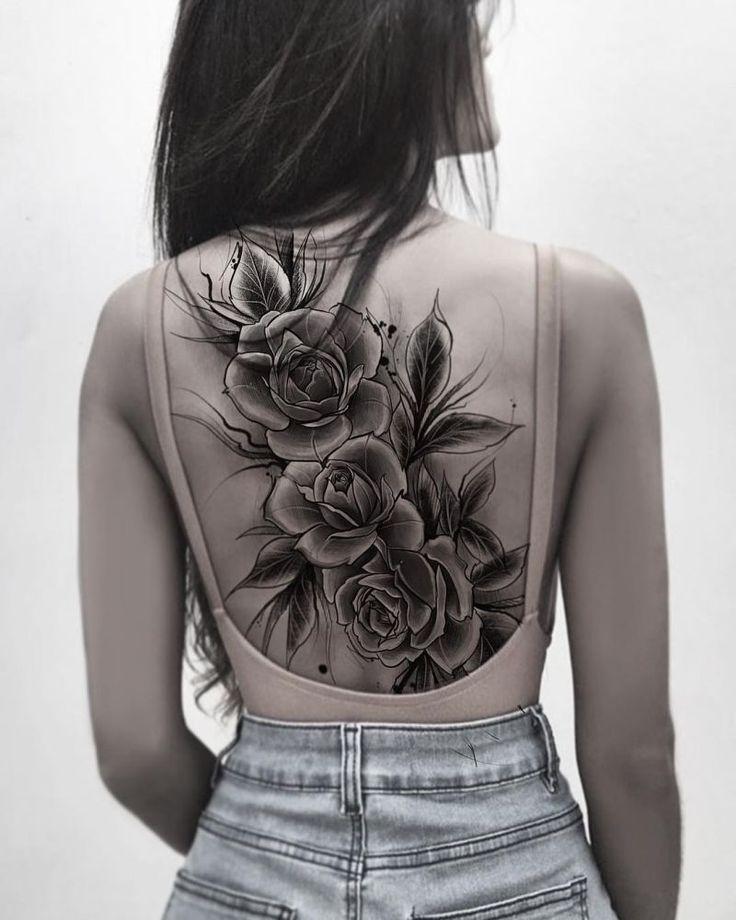 60 Most Elegant Rose Tattoos Ideas For Women in 2020 | Back tattoo women, Tattoos, Back piece tattoo
