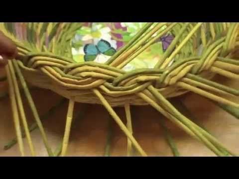▶ ▬► Газетное плетение. Объемная загибка. Часть 12.2. - YouTube