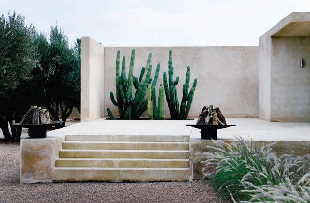 maison palmeraie // Marrakech, Morocco // Africa // mid century // modern design // architecture // minimalism // desert oasis // cactus// paradise // exotic travel destinations // dream vacations // places to go