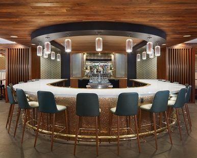 Hilton Washington, DC Hotel - Lobby Bar View | DC 20009