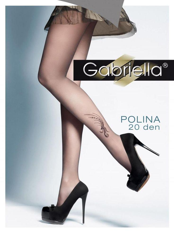 Collant Tatouage tattoo femme sexy noir Fantaisie GABRIELLA polina 20 deniers